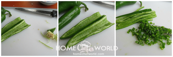 Prepping Jalapeno Peppers for Hasselback Chicken Recipe