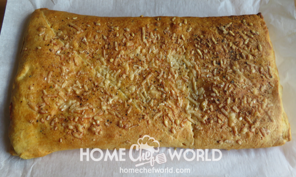 Stuffed Cheesy Bread Fresh Out of Oven