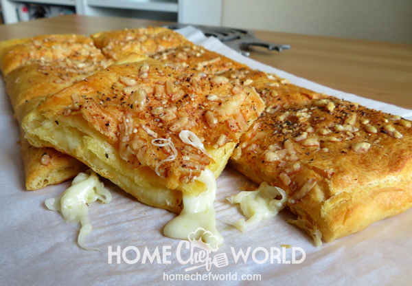 Stuffed Cheesy Bread Ready to Eat