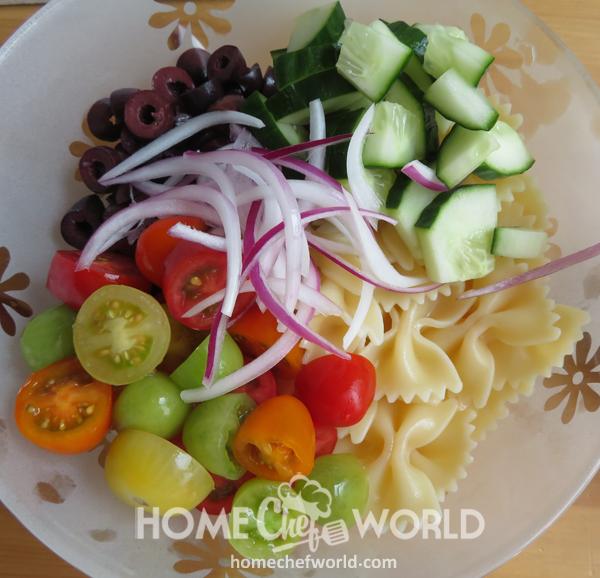 Adding Vegetables to Mediterranean Pasta