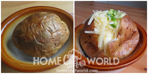 Crock Pot Baked Potatoes A Few Minutes in the Oven
