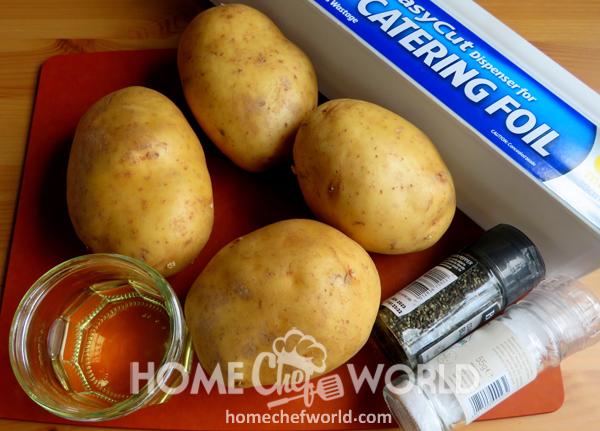 Ingredients for Crock Pot Baked Potatoes