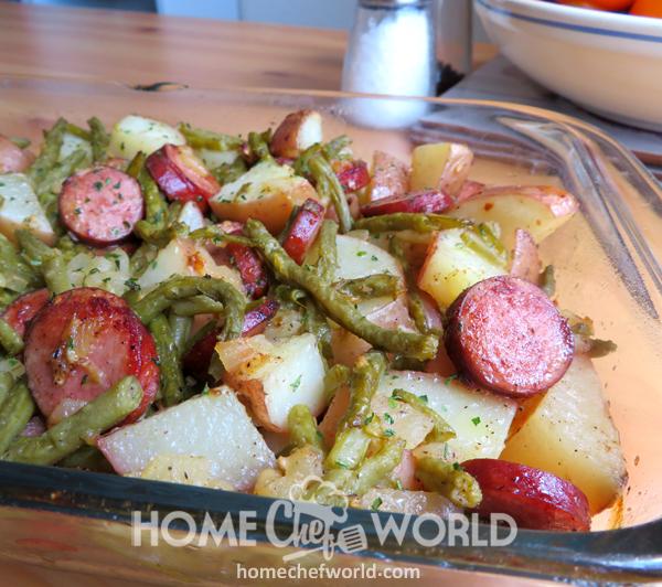 Sausage, Green Bean & Potato Casserole