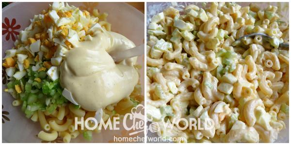 Assembling Mom'S Macaroni Salad