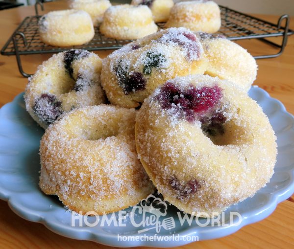 Baked Blueberry Donuts Presentation