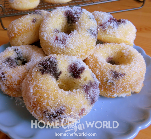 Baked Blueberry Donuts Ready to Eat