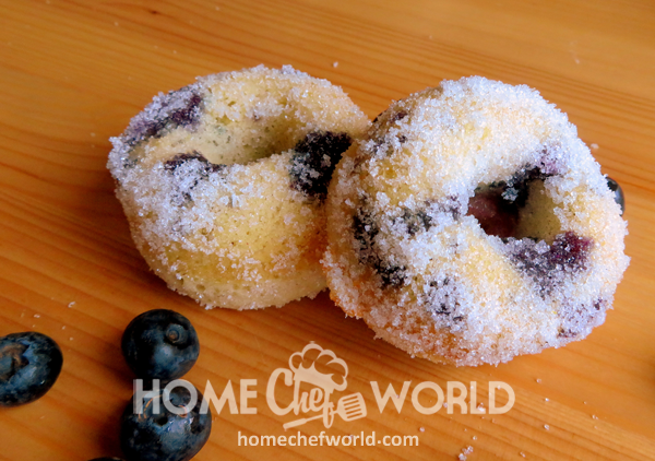 Baked Blueberry Donuts Serving Suggestion