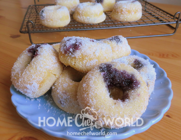 Baked Blueberry Donuts Sweets