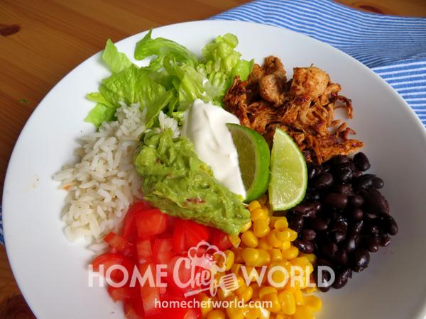 Chicken Burrito Bowls Dish