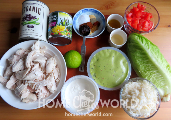 Chicken Burrito Bowls Ingredients