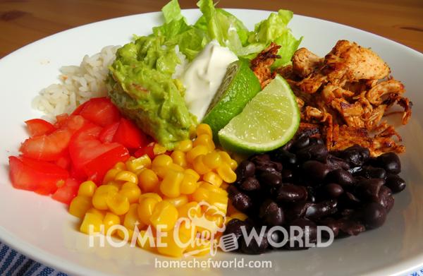 Chicken Burrito Bowls Plate