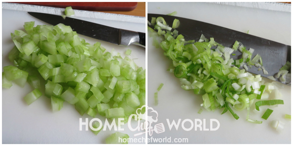 Chopping Vegetables for Mom'S Macaroni Salad