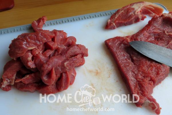 Crispy Orange Beef Cutting Steak