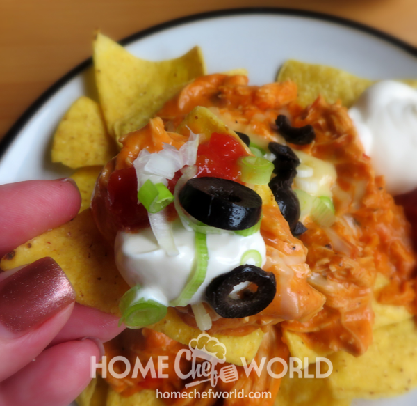 Crockpot Chicken Nachos Meal