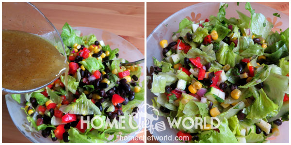 Dress and Toss Mexican Salad