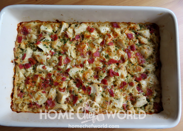 Fresh Out of Oven Chicken Bacon Ranch Casserole