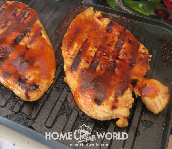 Grilling the Marinated Chicken Breast
