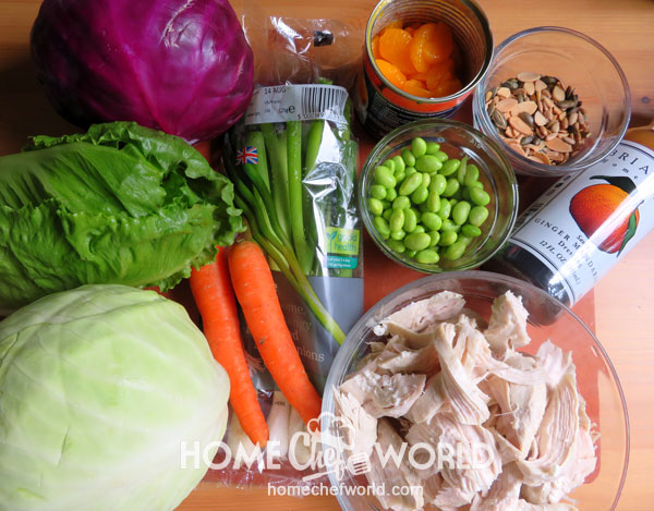 Ingredients for Asian Chicken Salad