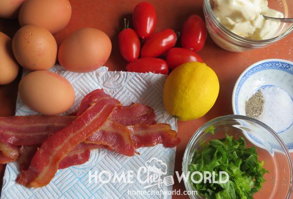 Ingredients for BLT Egg Salad Recipe