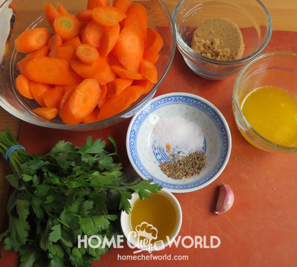 Ingredients for Brown Sugar Carrots Recipe