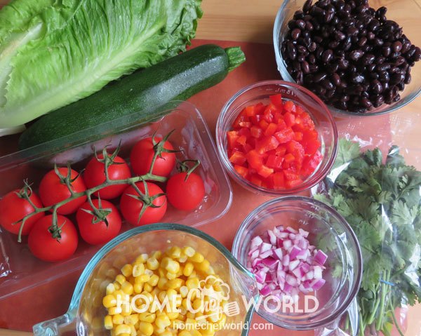 Ingredients for Mexican Chopped Salad