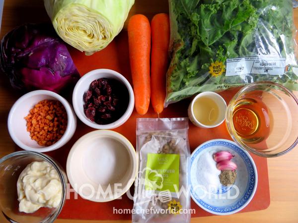 Ingredients for Sunflower Crunch Salad