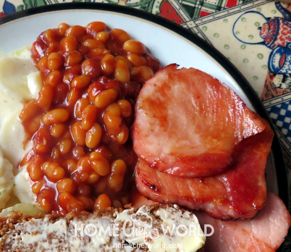 Instant Pot Baked Beans on Plate