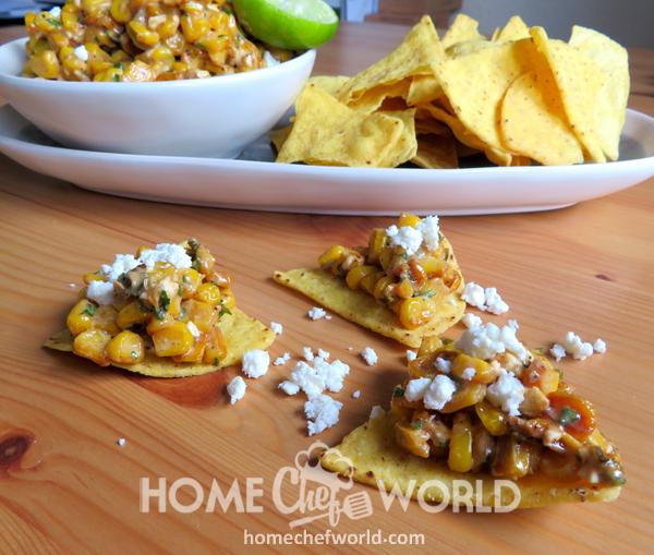 Mexican Corn Dip Plate