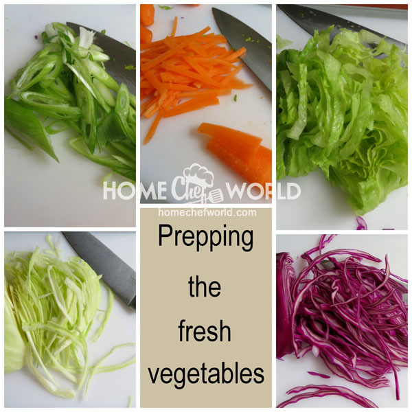 Preparing the Fresh Vegetables