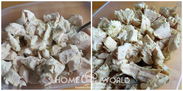 Prepping Chicken for Casserole
