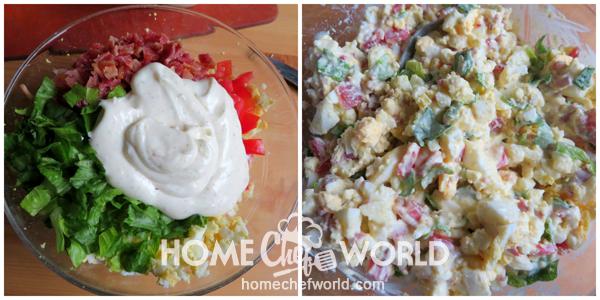 Stirring Everything Together for the BLT Egg Salad