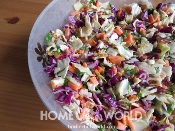 Sunflower Crunch Salad Presentation