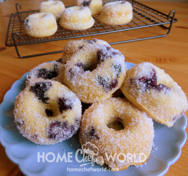 Tasty Baked Blueberry Donuts