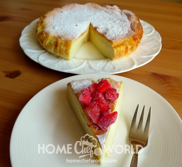 Vanilla Magic Custard Cake Dessert