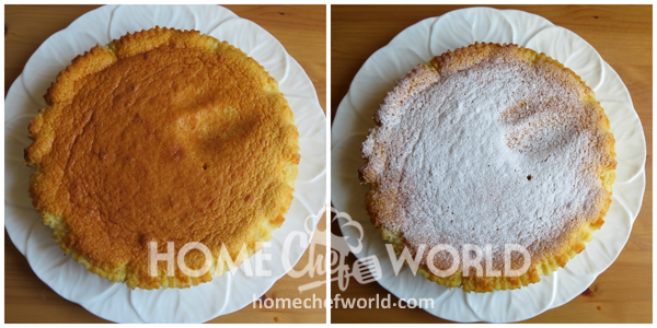 Vanilla Magic Custard Cake Dust with sugar