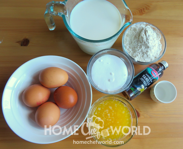 Vanilla Magic Custard Cake Ingredients