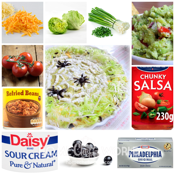 Ingredients for Spider Dip